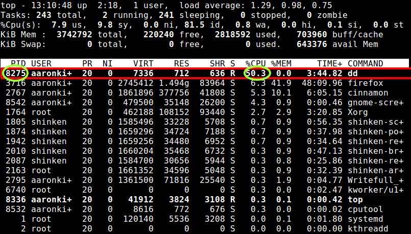 限制处理CPU到50%的使用